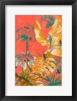 Framed Orange Palm Selva I