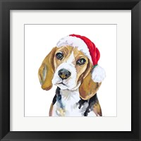 Framed Holiday Dog I
