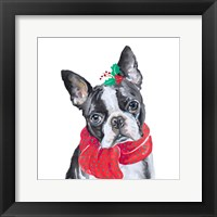 Framed Holiday Dog II