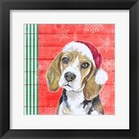 Framed Holiday Puppy I