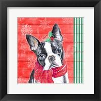Framed Holiday Puppy II