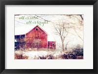 Framed Calm and Bright Barn