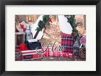Framed Santa Stop Here