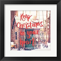 Framed Keep Christmas In Your Heart