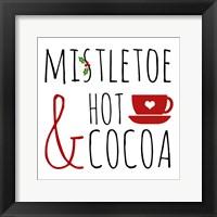 Framed Mistletoe and Hot Cocoa