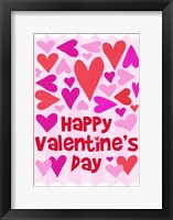 Framed Happy Valentine with Hearts