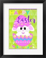Framed Happy Easter Bunny in Egg