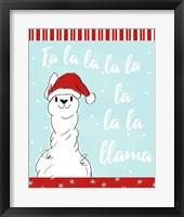 Framed Fa La Llama