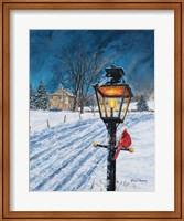 Framed Winterberry Lamppost