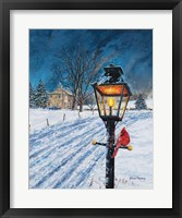 Framed Winterberry Lamppost