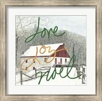 Framed Love Joy Noel