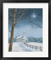 Framed Shining Holiday Star