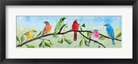 Framed Birds on a Branch