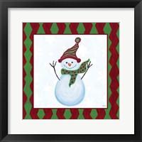 Framed Snowman Zig Zag Square I