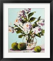 Framed White Rose
