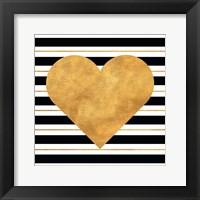 Framed Golden Heart