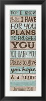 Framed Plans to GIve you Hope