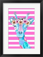 Framed Funky Giraffe