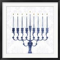 Framed Sophisticated Hanukkah I
