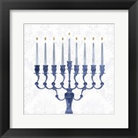 Framed Sophisticated Hanukkah I