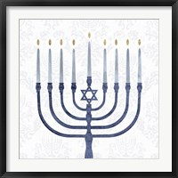 Framed Sophisticated Hanukkah II