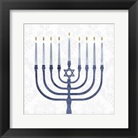 Framed Sophisticated Hanukkah II