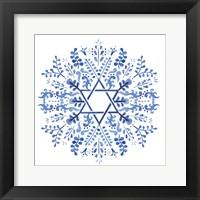 Framed Indigo Hanukkah I