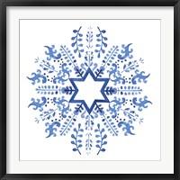 Framed Indigo Hanukkah II