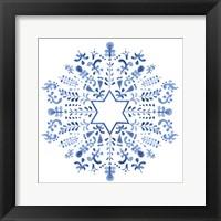 Framed Indigo Hanukkah III