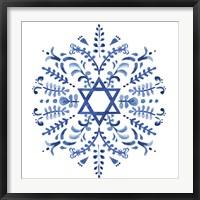 Framed Indigo Hanukkah IV