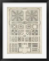Framed Antique Garden Design IV