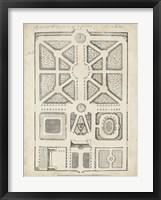 Framed Antique Garden Design V