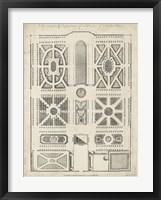 Framed Antique Garden Design VI