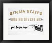 Framed Mild Manners II