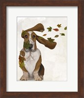 Framed Basset Hound Windswept and Interesting