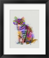 Framed Cat Rainbow Splash 7