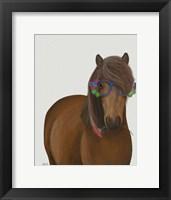 Framed Horse and Flower Glasses