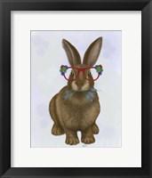 Framed Rabbit and Flower Glasses