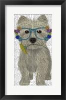 Framed West Highland Terrier Flower Glasses