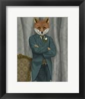 Framed Fox Victorian Gentleman Portrait