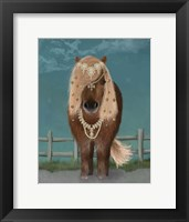 Framed Horse Brown Pony with Bells, Full