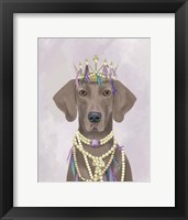 Framed Weimaraner with Tiara