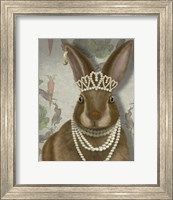 Framed Rabbit and Pearls, Portrait