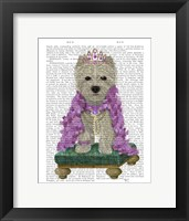 Framed West Highland Terrier with Tiara