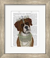 Framed Boxer and Tiara, Portrait
