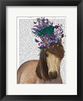 Framed Horse Mad Hatter