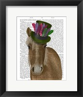 Framed Horse with Feather Hat