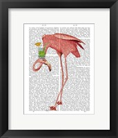 Framed Flamingo and Cocktail 1