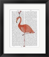 Framed Flamingo and Cocktail 3