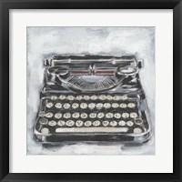 Framed Vintage Typewriter I